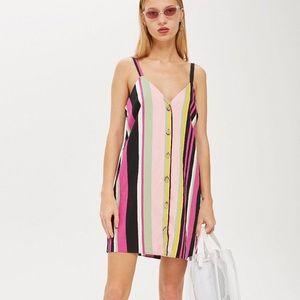 Topshop Striped Mini Dress
